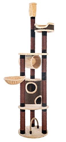 opixeno kratzbaum f r gro e und schwere katzenrassen deckenspanner deckenhoch braun beige. Black Bedroom Furniture Sets. Home Design Ideas