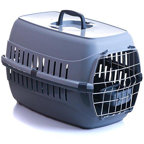 transportbox f r hund katze mit metallt r und napf. Black Bedroom Furniture Sets. Home Design Ideas
