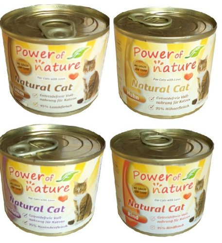24x200g power of nature natural cat mix nassfutter katzenfutter getreidefrei 95 fleisch. Black Bedroom Furniture Sets. Home Design Ideas