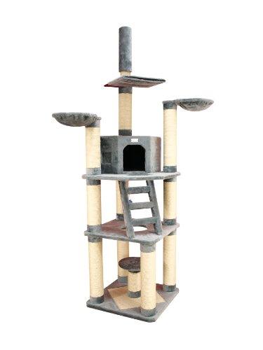 premium kratzbaum x9603 von armarkat gro xxl in farbe grau 11 cm kratzst mme f r gro e und. Black Bedroom Furniture Sets. Home Design Ideas